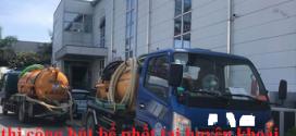 dịch vụ hút bể phốt tại huyện khoái châu